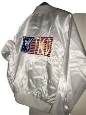 Vtg 80s Taekwondo Satin Jacket USA Made TKD MEN small Martial arts