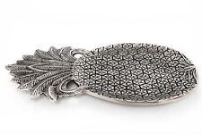 Pineapple Plate Silver Metal Effect 39cm long