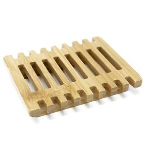 Soap Dish Rack Tray Holder Plate Hemu Wood Bamboo Soap Bath Kitchen Piano UK