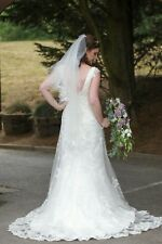 Maggie sottero wedding dress bundle size 10 ivory lace with hoop and matching...