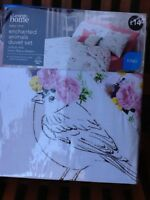 Enchanted animals Duvet Cover Set KING SIZE  George Home Asda only 1