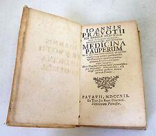 IOANNIS PRAEVOTII[Jean Prevost]MEDICINA PAUPERUM,1719 Conzatti,Padova[farmacia