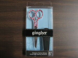 """GINGHER #220282 SAWYER 5"""" KNIFE-EDGE SEWING SCISSORS"""