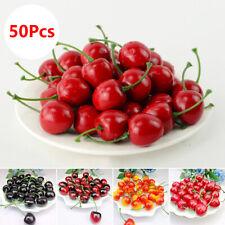 40Stück Lebensechte Künstliche Kirschen Künstliches Obst Gemüse Dekoration DE