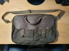 Barbour Wax & Leather Briefcase Bag Messenger Holdall