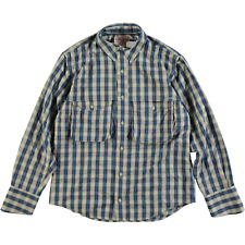 Filson Showroom Sample - Size M - Filson Long Sleeve Angler Shirt Ascent Blue Pl