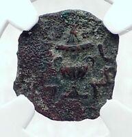 Authentic Ancient JEWISH WAR v ROMANS 68AD Yr3 JERUSALEM Coin AMPHORA NGC i81418