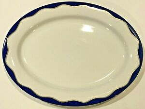 POTTERY BARN NEW Hanukkah Blue Oval Serving Platter- Retails $69