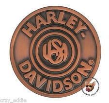 HARLEY DAVIDSON USA ANTIQUE BRONZE VEST PIN * RETIRED DESIGN * JACKET MOTORCYCLE