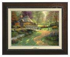 Thomas Kinkade - Friendship Cottage – Canvas Classic (Espresso Frame)
