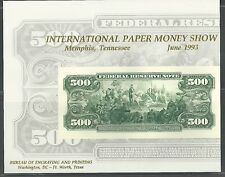 INTERNATIONAL PAPER MONEY SHOW, MEMPHIS 1993 MINT SOUVENIR CARD B-171