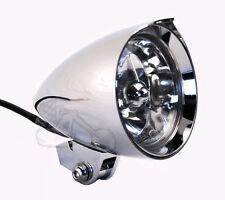 """4.5"""" X 7"""" Chrome Billet Fang Headlight Harley Chopper Bobber Springer Softail"""