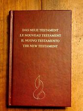 German French Italian English New Testament, Bible, 4 Languages, Compact