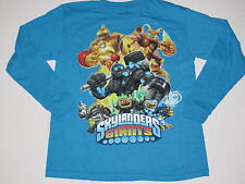 NWOT SKYLANDERS GIANTS shirt long sleeve BOY size L (14-16?) blue