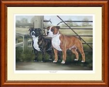 STAFFORDSHIRE BULL TERRIERS print 'Audrey and Chubbs'