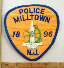 MILLTOWN NEW JERSEY  POLICE  FABRIC PATCH