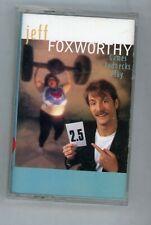 """Cassette """"Jeff Foxworthy"""" Games Redneck Play  1995 Warner Bros"""
