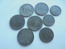 Germany, Nazi, WW2 Zinc Coins, War Money Reichspfennig's, as shown.
