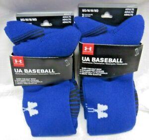 Under Armour Mens UA Baseball Over-The-Calf Sock 4 Pair Blue Size MD U450