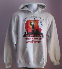 VINTAGE Da Uomo AUGUSTA Sportswear KHS Band Grigio in Policotone Felpa Con Cappuccio Taglia M