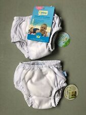 i play. Baby Pull-up Reusable Absorbent Swim Diaper (2), White, 3-6 months New
