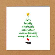 Romantic Christmas Card - wife girlfriend husband boyfriend - love heart loving