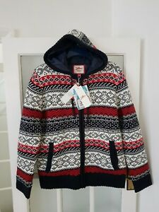JOE BROWNS  Knitted  Hooded  Padded Cardigan  Size M   BNWT