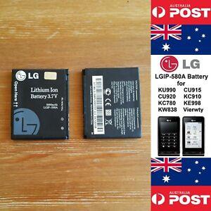 GENUINE LG KU990 CU915 Vierwty Battery  1000mAh  LGIP-580A  Good Quality - Local