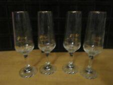 "1988 Calgary Olympic Glasses Petro Canada 22K Gold 2 Wine Flute Glasses 8.25"" H"