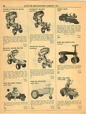1964 PAPER AD Andy Gard Ride Em Jeep Tractor Dump Truck Marx Locomotive Loco