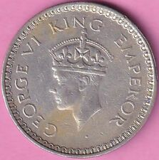 1943 British India King George VI rupee Nr.about UNC silver coin