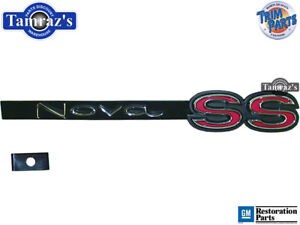 """1967 Chevy II """" Nova SS """" Front Grille Emblem w/ Retainer & Hardware Made in USA"""