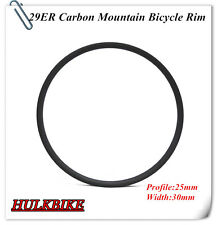 29er carbon Mountain bike Rim clincher tubeless compatible 30mm width for XC
