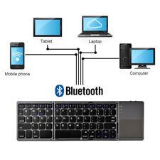 Folding Keyboard Bluetooth Portable Foldable Wireless Keypad With Touchpad Mice