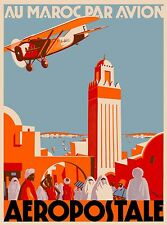 Au Maroc Morocco Africa Moroccan African Vintage Travel Advertisement Poster