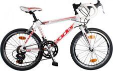 Leader - Rennrad Roady 20 Zoll 40 cm Jungen 14G Felgenbremse Weiß