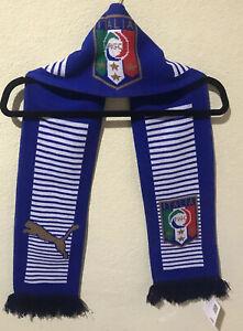 Puma Official Licensed Football Knit Fan Scarf Blue Italia Soccer NWT M3