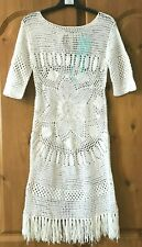 Melissa Odabash 'melissa' White Crochet Dress Size S UK 8-10 Beach Cover up