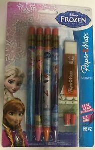 "paper mate 4 Pack ""MATES"" 1.3 lead Mechanical Pencils in Disney Frozen Barrel"