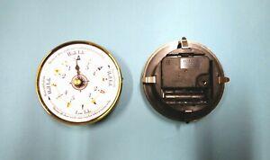 MEGA QUARTZ TIDE ONLY CLOCK INSERT MOVEMENT 100mm Brass Bezel white flags dial