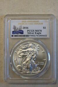 2016 American Silver Eagle $1 PCGS MS70