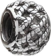 Authentic Chamilia Sterling NWT .925 Silver Bead Charm GA-35 Lines-FREE SHIPPING