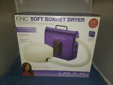 Laila Ali Ionic Soft Adjustable Bonnet Purple Black Dryer Portable Case 2 Speed