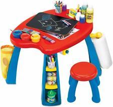 Crayola Kids Furniture Kids Art Play Station Desk Toddler Table & Chair Set NEW