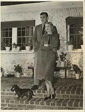 SYLVIA ASHLEY & CLARK GABLE Original Vintage Photo 1949 - CANDID MOMENT