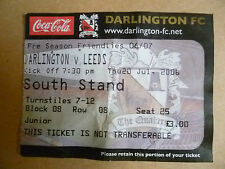 Darlington Surname Initial F Football Tickets & Stubs