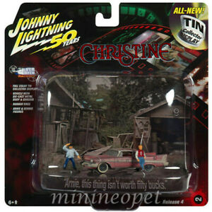 JOHNNY LIGHTNING JLDR010 JLSP079 CHRISTINE 1958 PLYMOUTH FURY 1/64 with FIGURES
