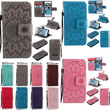Fashion 3D Embossing Sun Flower Flip Wallet PU Leather Case Stand Cover Skin New