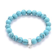 Authentic Howlite Gemstone Charm Bracelet by Philip Jones