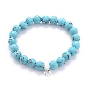 Synthetic Turquoise Gemstone Charm Bracelet by Philip Jones